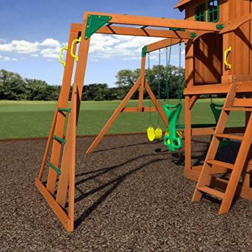 Beauty.Scouts Spielturm Major Holz in braun mit vielen Spielmöglichkeiten 470x490x280cm Kinderspielhaus mit Rutsche Kletterwand Schaukel Baumhaus Kletterturm - 4