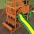 Beauty.Scouts Spielturm Major Holz in braun mit vielen Spielmöglichkeiten 470x490x280cm Kinderspielhaus mit Rutsche Kletterwand Schaukel Baumhaus Kletterturm - 5