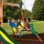 Beauty.Scouts Spielturm Major Holz in braun mit vielen Spielmöglichkeiten 470x490x280cm Kinderspielhaus mit Rutsche Kletterwand Schaukel Baumhaus Kletterturm - 6