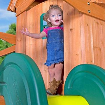 Beauty.Scouts Spielturm Major Holz in braun mit vielen Spielmöglichkeiten 470x490x280cm Kinderspielhaus mit Rutsche Kletterwand Schaukel Baumhaus Kletterturm - 7