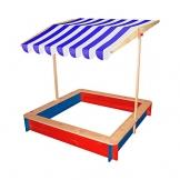 BELUGA Sandkasten mit Dach mehrfarbig OneSize - 1