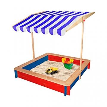 BELUGA Sandkasten mit Dach mehrfarbig OneSize - 2