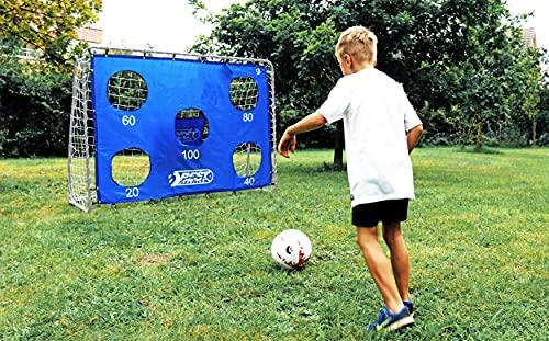 Best Sporting Fußballtor grau 240 x 170 x 85 cm sehr stabil, mit Blauer Torwand mit 5 Schusslöchern - 2