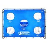 Best Sporting Fußballtor grau 240 x 170 x 85 cm sehr stabil, mit Blauer Torwand mit 5 Schusslöchern - 1