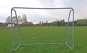 Best Sporting Fußballtor grau 240 x 170 x 85 cm sehr stabil, mit Blauer Torwand mit 5 Schusslöchern - 4