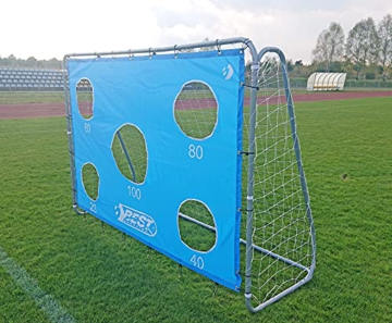 Best Sporting Fußballtor grau 240 x 170 x 85 cm sehr stabil, mit Blauer Torwand mit 5 Schusslöchern - 7