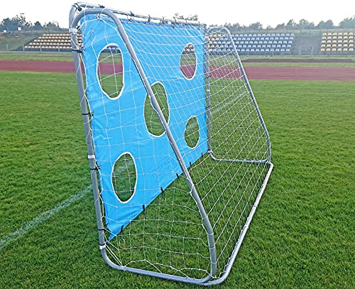 Best Sporting Fußballtor grau 240 x 170 x 85 cm sehr stabil, mit Blauer Torwand mit 5 Schusslöchern - 8
