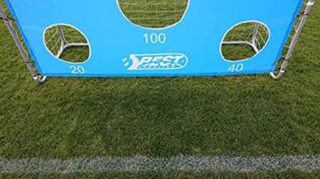 Best Sporting Fußballtor grau 240 x 170 x 85 cm sehr stabil, mit Blauer Torwand mit 5 Schusslöchern - 9