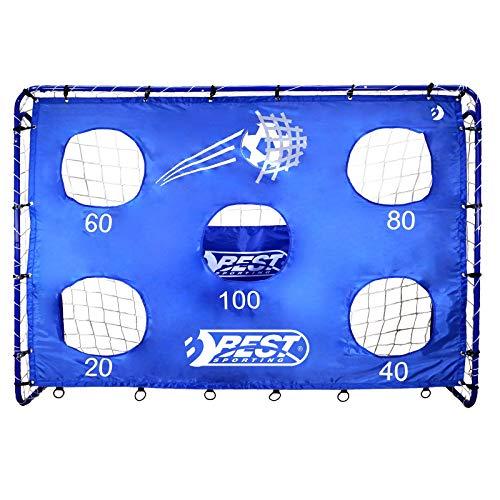 Best Sporting Fußballtor mit Torwand, 213 x 152 cm, mit 5 Schusslöchern, blau - 1