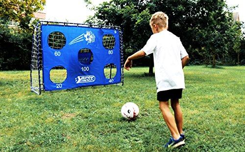 Best Sporting Fußballtor mit Torwand, 213 x 152 cm, mit 5 Schusslöchern, blau - 2