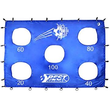 Best Sporting Fußballtor mit Torwand, 213 x 152 cm, mit 5 Schusslöchern, blau - 5