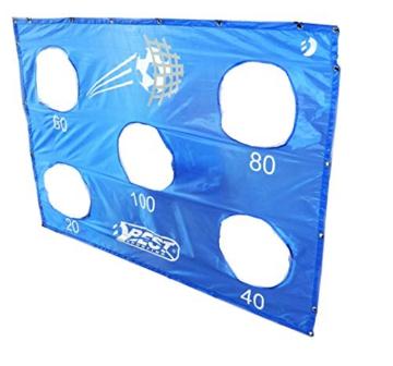 Best Sporting Fußballtor mit Torwand, 213 x 152 cm, mit 5 Schusslöchern, blau - 6