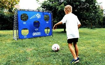 Best Sporting Fußballtor Set mit Tor, Torwand mit 5 Schusslöchern, Ball, Pumpe, Design Blau - 2