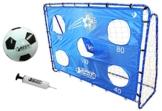 Best Sporting Fußballtor Set mit Tor, Torwand mit 5 Schusslöchern, Ball, Pumpe, Design Blau - 1