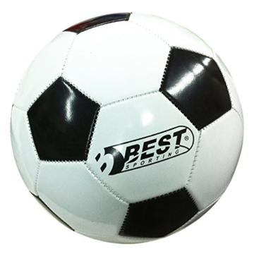Best Sporting Fußballtor Set mit Tor, Torwand mit 5 Schusslöchern, Ball, Pumpe, Design Blau - 7