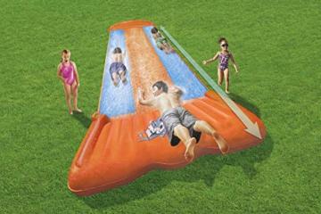 BESTWAY 52258 H2OGO Wasserrutsche Slide, Triple, Mehrfarbig, 549 cm - 14
