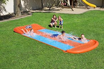 BESTWAY 52258 H2OGO Wasserrutsche Slide, Triple, Mehrfarbig, 549 cm - 2
