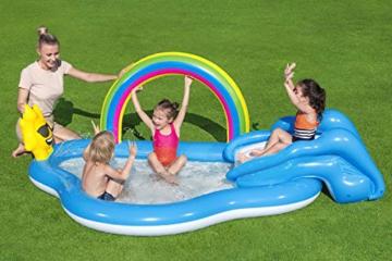 Bestway 53092 Wasserspielcenter mit Planschbecken Rainbow n' Shine 257 x 145 x 91 cm, Color - 2