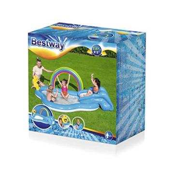 Bestway 53092 Wasserspielcenter mit Planschbecken Rainbow n' Shine 257 x 145 x 91 cm, Color - 3