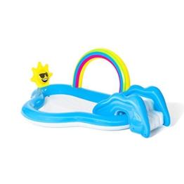 Bestway 53092 Wasserspielcenter mit Planschbecken Rainbow n' Shine 257 x 145 x 91 cm, Color - 1