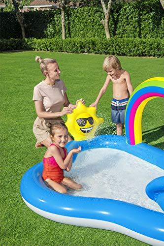 Bestway 53092 Wasserspielcenter mit Planschbecken Rainbow n' Shine 257 x 145 x 91 cm, Color - 8