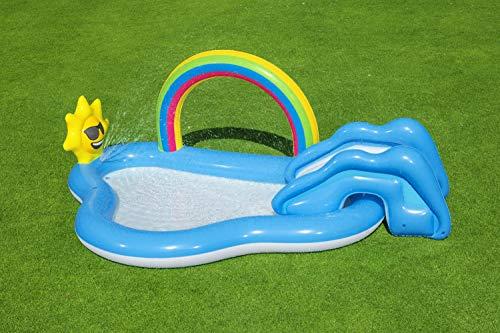 Bestway 53092 Wasserspielcenter mit Planschbecken Rainbow n' Shine 257 x 145 x 91 cm, Color - 9