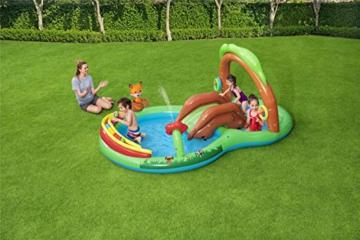 Bestway 53093 Wasserspielcenter Waldtiere mit Planschbecken 295 x 199 x 130 cm, Color - 2