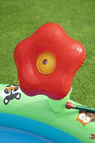 Bestway 53093 Wasserspielcenter Waldtiere mit Planschbecken 295 x 199 x 130 cm, Color - 11