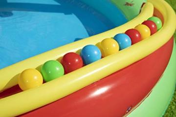 Bestway 53093 Wasserspielcenter Waldtiere mit Planschbecken 295 x 199 x 130 cm, Color - 13