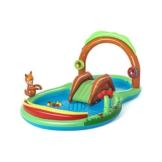 Bestway 53093 Wasserspielcenter Waldtiere mit Planschbecken 295 x 199 x 130 cm, Color - 1
