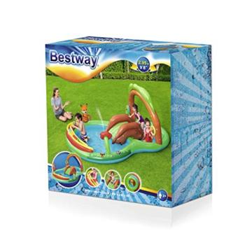 Bestway 53093 Wasserspielcenter Waldtiere mit Planschbecken 295 x 199 x 130 cm, Color - 3