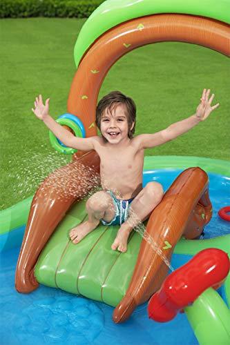 Bestway 53093 Wasserspielcenter Waldtiere mit Planschbecken 295 x 199 x 130 cm, Color - 5