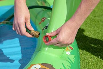 Bestway 53093 Wasserspielcenter Waldtiere mit Planschbecken 295 x 199 x 130 cm, Color - 7