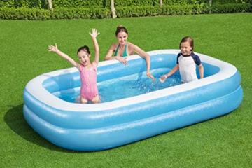 Bestway 54006 Family, Pool rechteckig für Kinder, leicht aufbaubar, blau, 262x175x51 cm, Color - 2