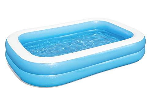 Bestway 54006 Family, Pool rechteckig für Kinder, leicht aufbaubar, blau, 262x175x51 cm, Color - 12