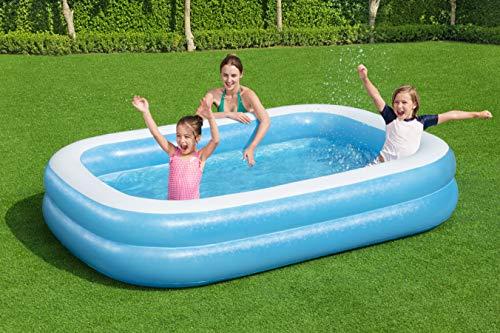 Bestway 54006 Family, Pool rechteckig für Kinder, leicht aufbaubar, blau, 262x175x51 cm, Color - 14