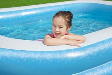 Bestway 54006 Family, Pool rechteckig für Kinder, leicht aufbaubar, blau, 262x175x51 cm, Color - 15