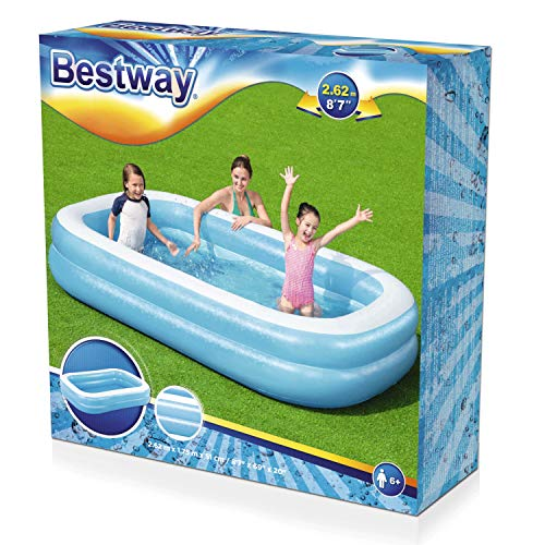 Bestway 54006 Family, Pool rechteckig für Kinder, leicht aufbaubar, blau, 262x175x51 cm, Color - 3