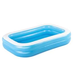 Bestway 54006 Family, Pool rechteckig für Kinder, leicht aufbaubar, blau, 262x175x51 cm, Color - 1