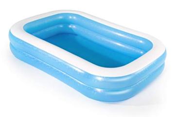 Bestway 54006 Family, Pool rechteckig für Kinder, leicht aufbaubar, blau, 262x175x51 cm, Color - 9