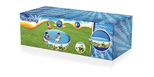 Bestway 55022 Fill'N Fun Planschbecken Dino, 183 x 38 cm, Color, 183x183x38 cm - 3