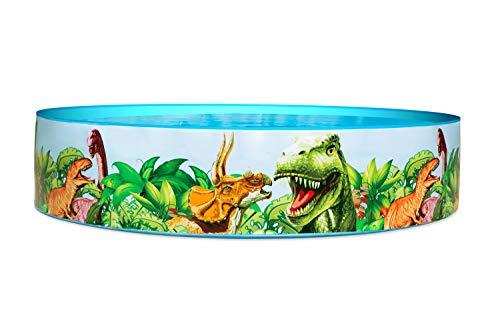 Bestway 55022 Fill'N Fun Planschbecken Dino, 183 x 38 cm, Color, 183x183x38 cm - 7