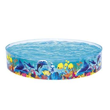 Bestway 55031 Schwimmen Fill ´N Fun Odyssey, Mehrfarbig, 244 x 244 x 46 cm - 1