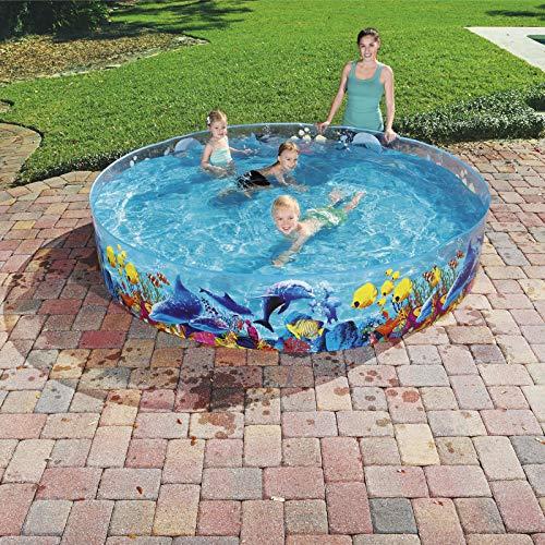 Bestway 55031 Schwimmen Fill ´N Fun Odyssey, Mehrfarbig, 244 x 244 x 46 cm - 4
