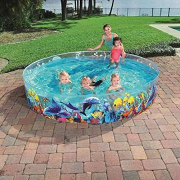 Bestway 55031 Schwimmen Fill ´N Fun Odyssey, Mehrfarbig, 244 x 244 x 46 cm - 5