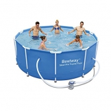 "Bestway 56334GS-03 Frame Pool ""Steel Pro"" Set mit Filterpumpe, 305 x 100 cm - 1"