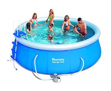 Bestway 57148 Fast Set Pool Set mit Filterpumpe + Zubehör 457x122cm - 1