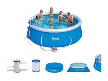 Bestway 57148 Fast Set Pool Set mit Filterpumpe + Zubehör 457x122cm - 8