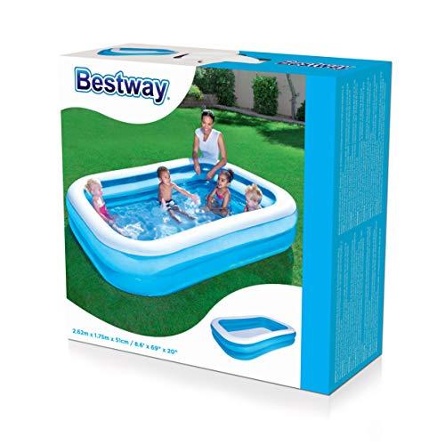 "Bestway Family Pool""Blue Rectangular"", 262x175x51cm - 3"