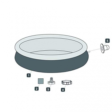 Bestway Fast Set, 457 x 457 x 107 cm, rund, Rattan grau, 12.362 Liter, aufblasbarer Aufstellpool, rund ohne Pumpe und Zubehör, Ersatzpool, Ersatzteil - 4